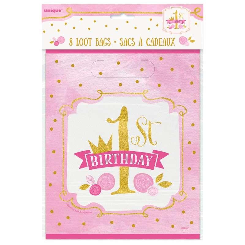 8 Prinzessin Alice 1 Geburtstag Geschenktuten 23 X 18cm Party De
