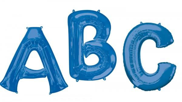 Foil balloon letter A blue XL 81cm