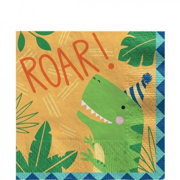 16 Dino Roar Geburtstags Servietten 33 x 33cm