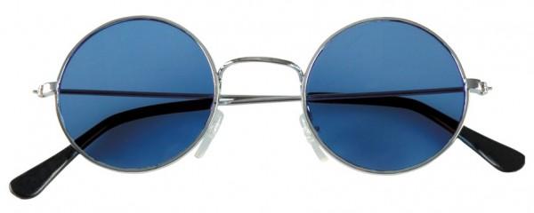 Blaue Rund Hippiebrille John Lennon 1