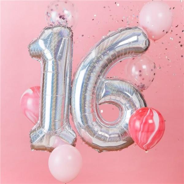 Starful 16th Birthday Folienballons 1,02m