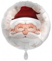 Ballon en aluminium de Noël Père Noël romantique 71cm