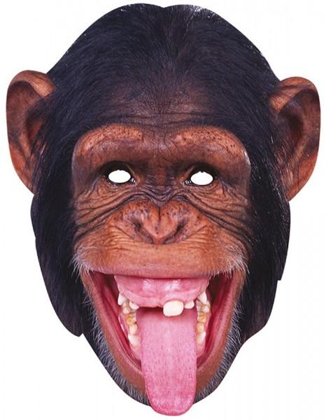 Freche Affen Pappmaske