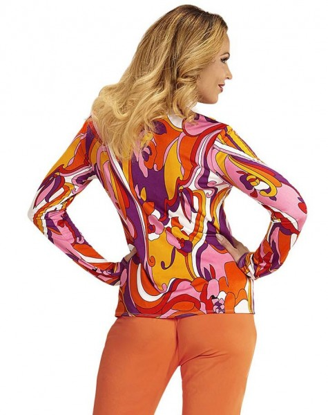 Blusa de mujer de los años 70 flower power
