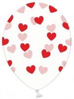 6 Transparente Ballons True Love 30cm
