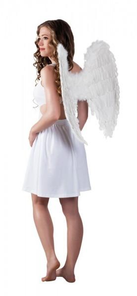 Weiße Engelskind Flügel 65cm