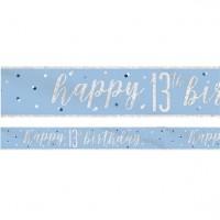 Sparkling Blue 13.Geburtstag Banner 2,75m