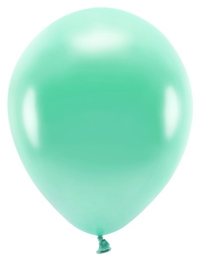 100 Eco metallic balloons jade green 26cm