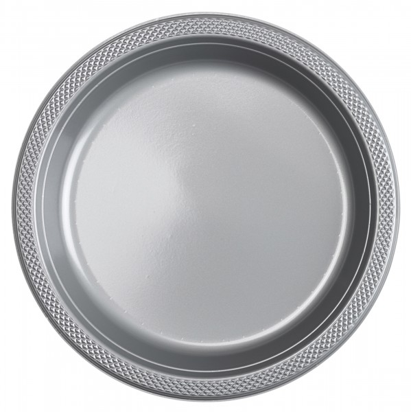 20 platos Silver Star 22,8cm