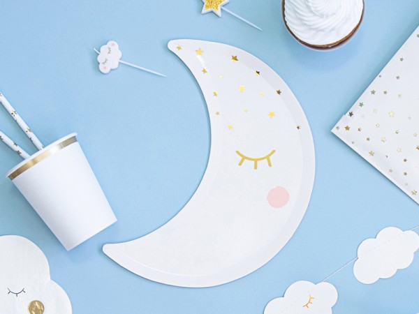 6 platos de papel Heaven Sent Moon 24cm