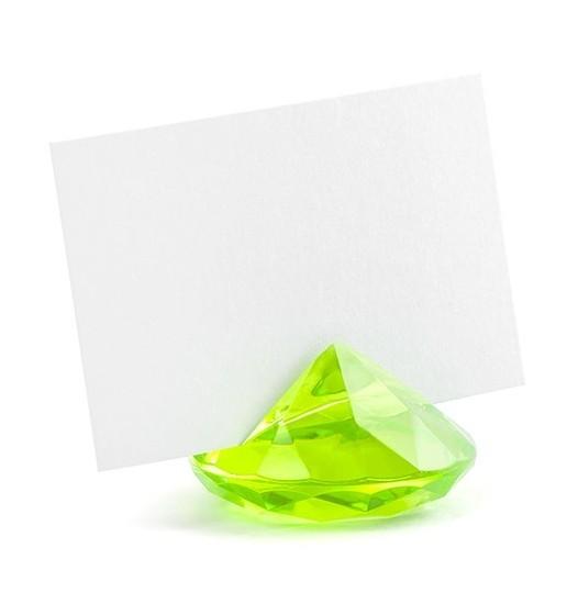 10 Diamanten Kartenhalter hellgrün 4cm