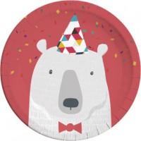 8 Arctic Party Pappteller 23cm