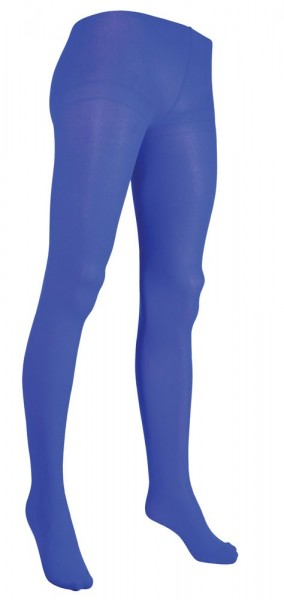 Opaque blue women's tights