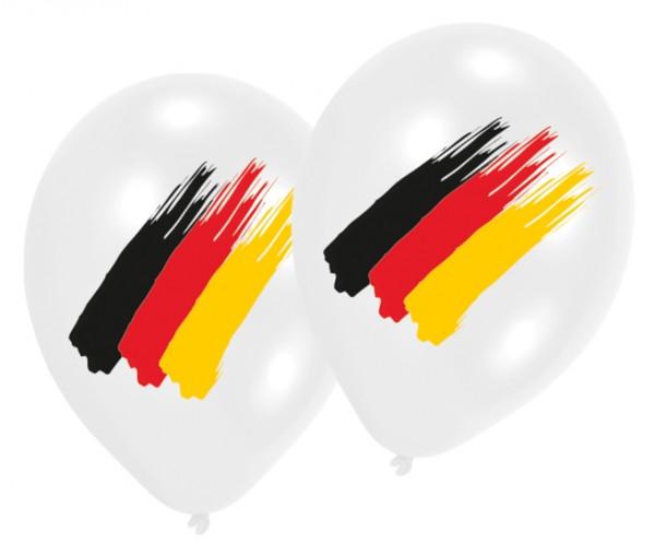 6 Deutschland WM Ballons 30cm