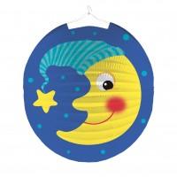 Sankt Martin Lampion niedlicher Mond mit Mütze