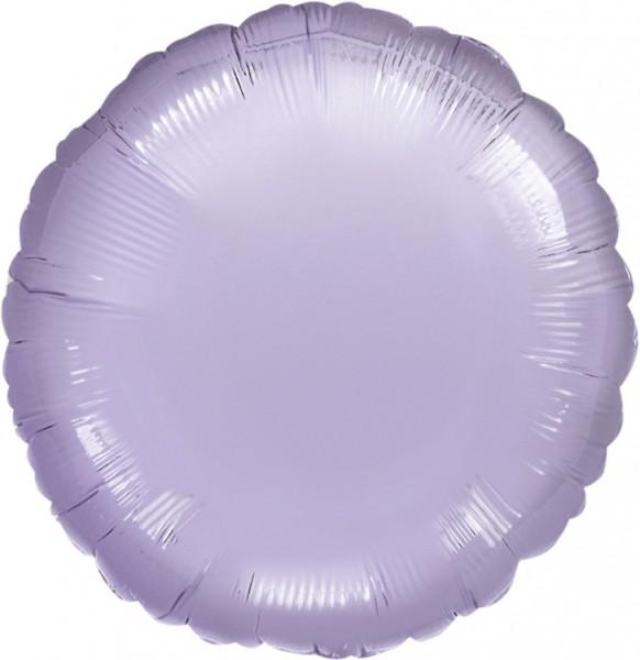 Okrągły balon foliowy liliowy 45cm
