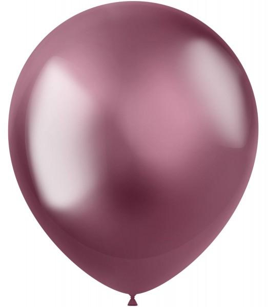 10 Shiny Star Luftballons brombeere 33cm