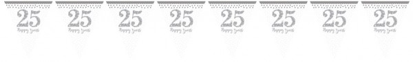 Sparkling 25 Years pennant chain