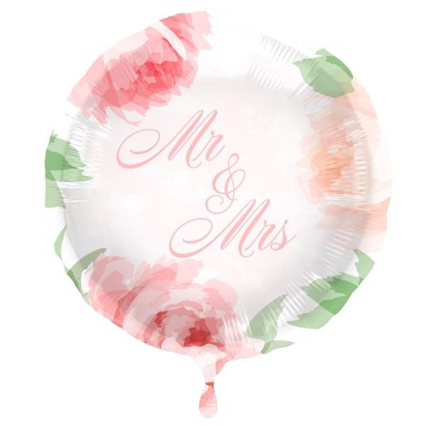 Globo de foil Mr and Mrs Roses 45cm
