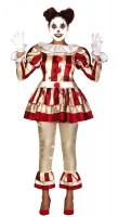 Horror Zirkus Clownkostüm für Damen