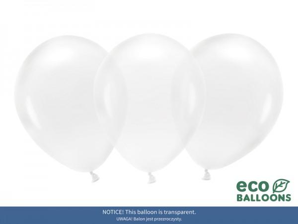 100 Eco Kristall Ballons transparent 30cm
