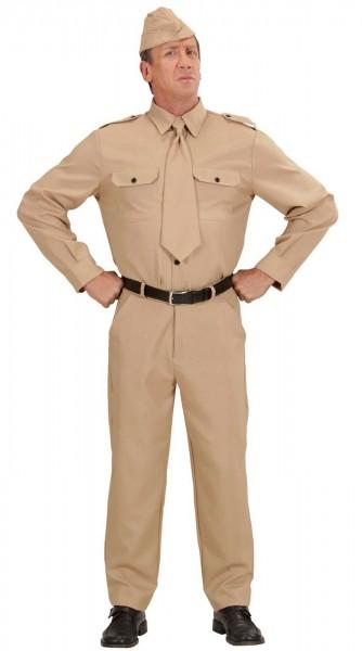 Unifarbenes Soldatenkostüm für Herren