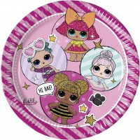 6 LOL Glam Girls Pappteller 23cm