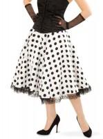 Jupe noire et blanche à pois années 50