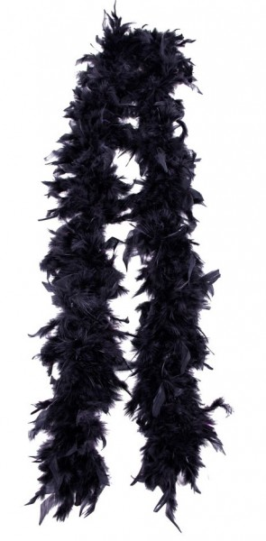 Black feather boa Alissa