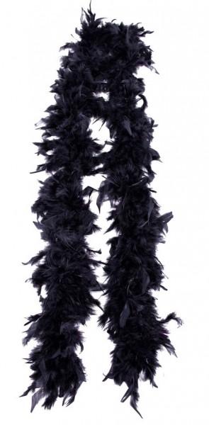 Boa di piume nere Alissa