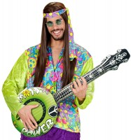 Flower Power Gitarre Aufblasbar