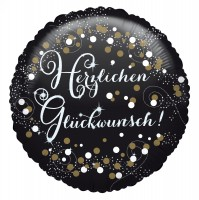 Golden Birthday Glückwunsch Ballon 43cm