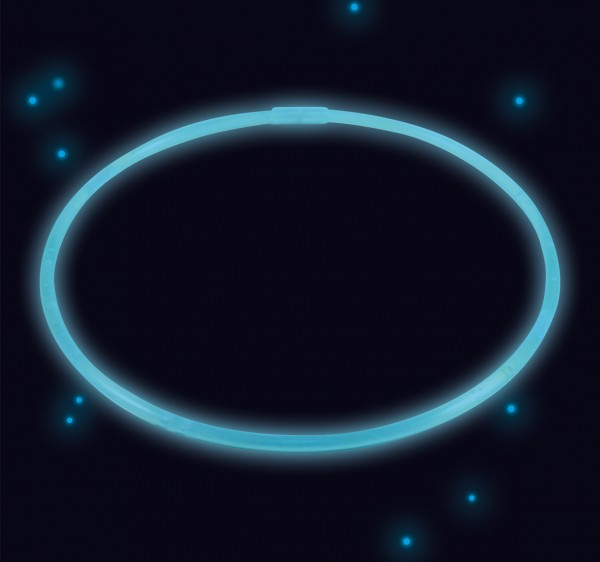 Collier Power Glowstick 51cm Bleu