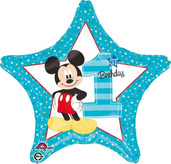 Sternballon Mickey Mouse 1.Geburtstag