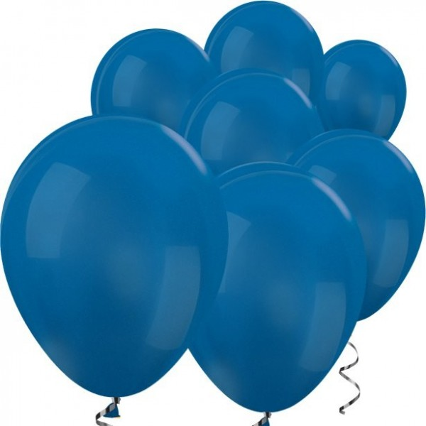 100 metallic-blaue Mini Ballons 13cm