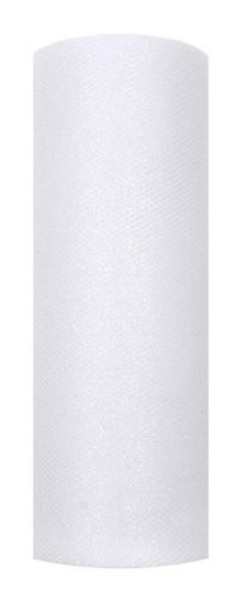 Glitzer Tüll Estelle weiß 9m x 15cm