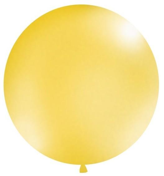 XXL metallic balloon party giant gold 1m