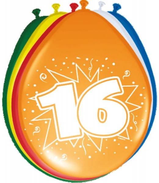 8 Celebrate 16 Luftballons 30cm