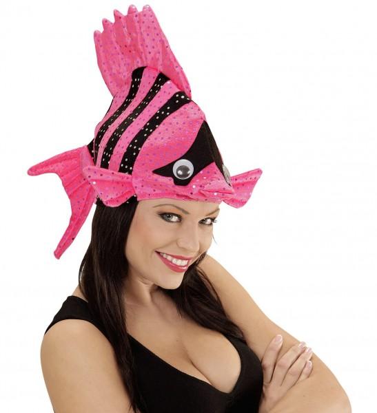 Lustiger Pinker Fischhut