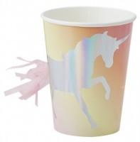 8 Shiny Unicorn Pappbecher 255ml