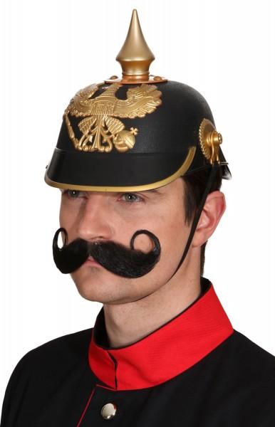Offiziershelm In Schwarz-Gold