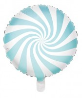 Candy Party Folienballon pastellblau 45cm