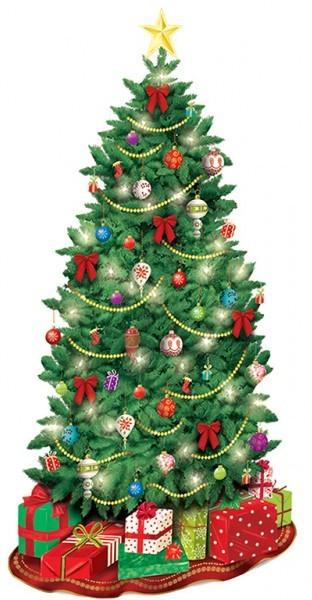 Adorno de pared de árbol de Navidad 85 cm x 1,65 m