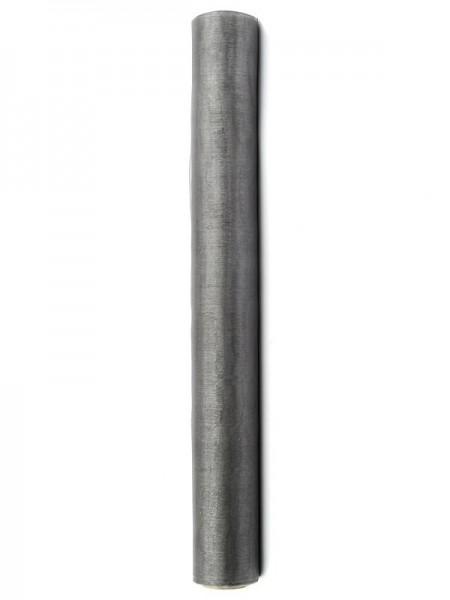 Organza Stoff Julie anthrazit 9m x 36cm