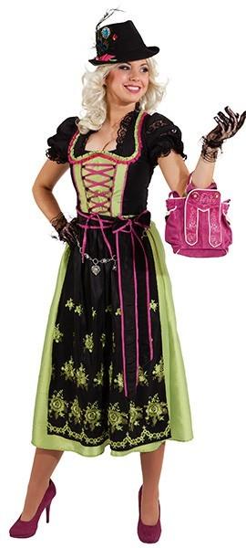 Dirndl Regina Schwarz-Grün-Pink 1