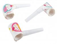 6 Cupcake Party Luftrüssel 30cm
