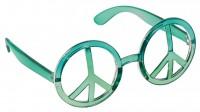 Love & Peace Brille Aquamarin 80er Jahre