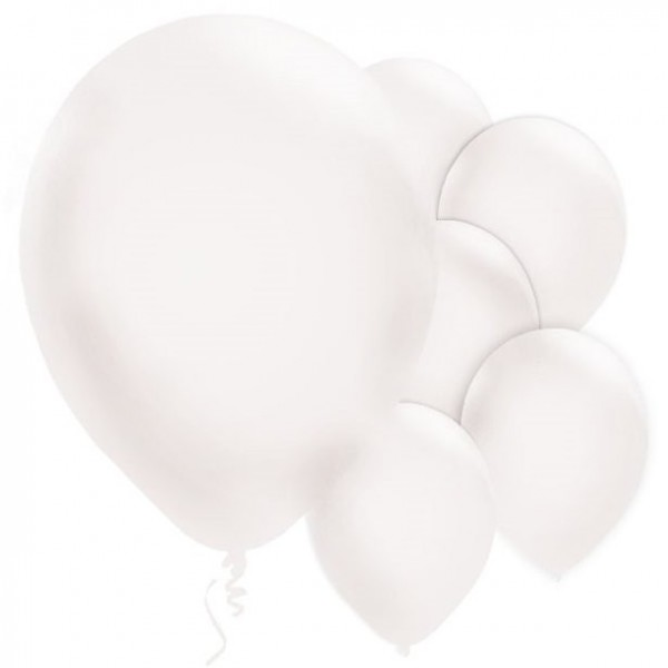 10 white latex balloons 28cm