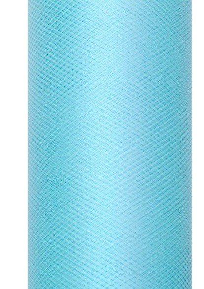 Tissu Tulle Luna turquoise 20m x 8cm