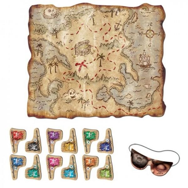Piraten Schatzkarten Partyspiel